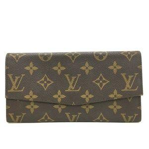 Auth Louis Vuitton Long Bifold Wallet #1133L14
